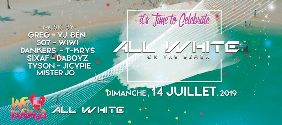 ALL WHITE NATIONAL DAY ON THE BEACH